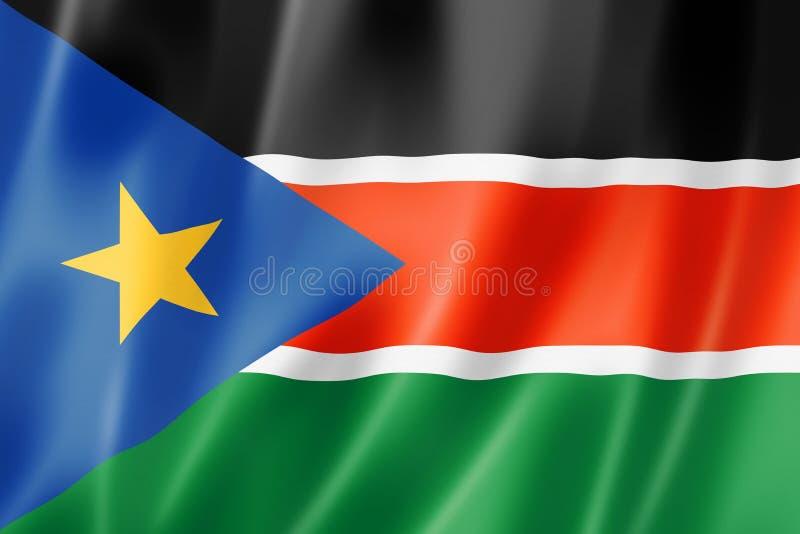 Drapeau du sud du Soudan illustration stock