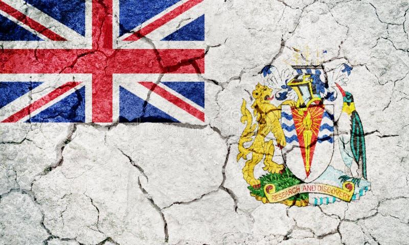 Drapeau du territoire antarctique britannique illustration libre de droits