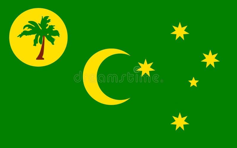 Drapeau du territoire des îles de Keeling de Cocos illustration stock