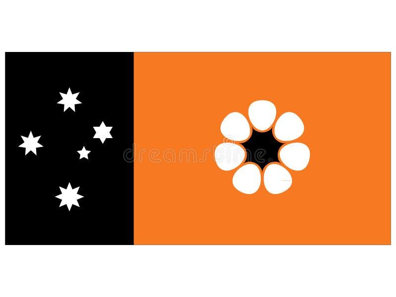 Drapeau du territoire du nord australien illustration libre de droits