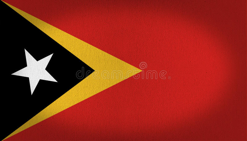 Drapeau du Timor oriental illustration stock
