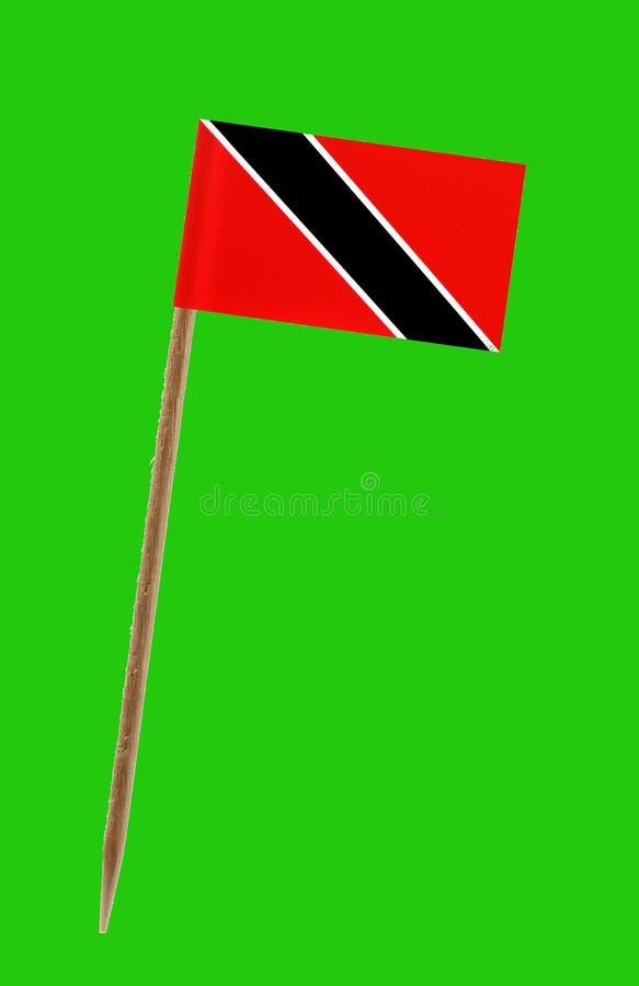 Drapeau du Trinidad-et-Tobago, avec l'écran vert pour le chromakey images stock