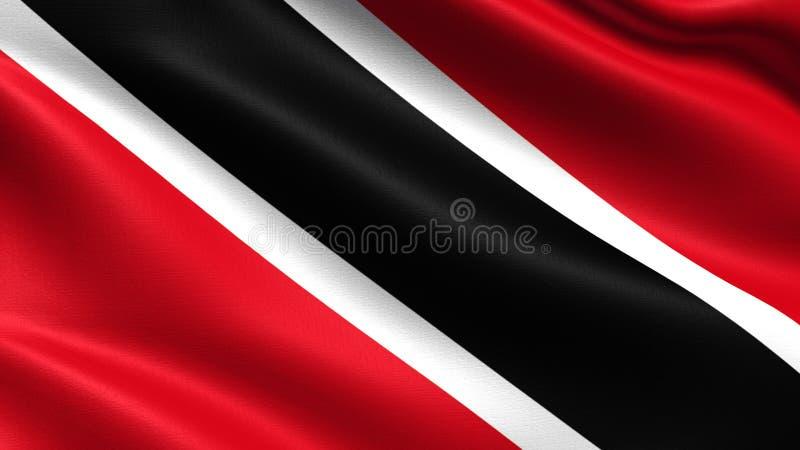 Drapeau du Trinidad-et-Tobago, avec la texture de ondulation de tissu image libre de droits