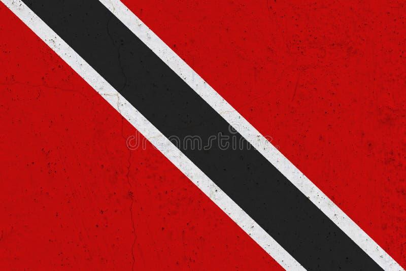 Drapeau du Trinidad-et-Tobago sur le mur en béton photographie stock