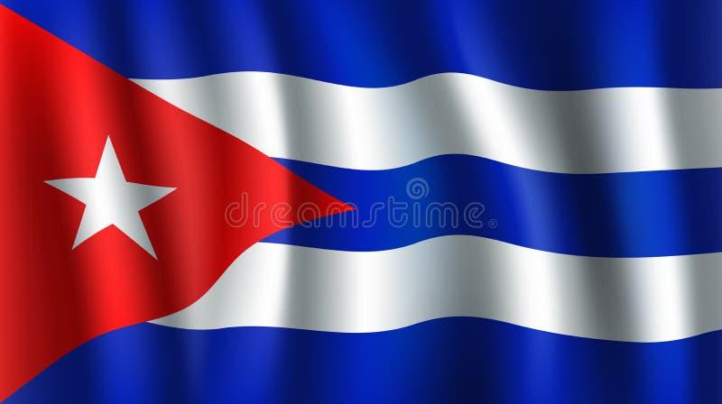 Drapeau du vecteur 3D du Cuba Symbole national cubain illustration stock