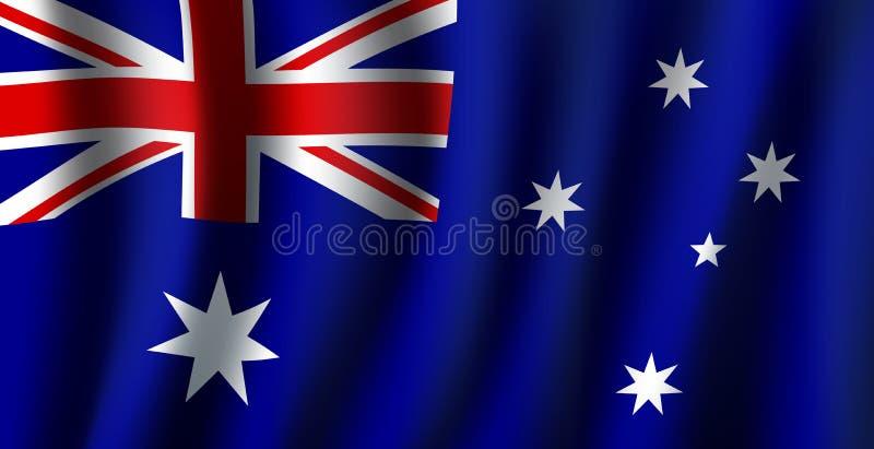 Drapeau du vecteur 3D de symbole national d'Australie illustration de vecteur