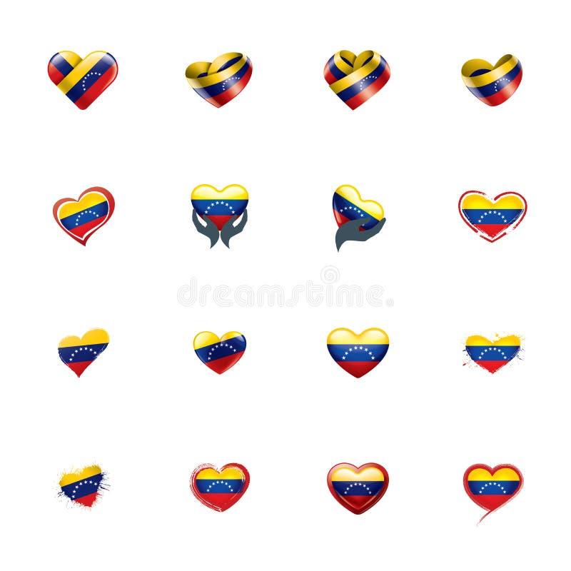 Drapeau du Venezuela, illustration de vecteur sur un fond blanc illustration libre de droits