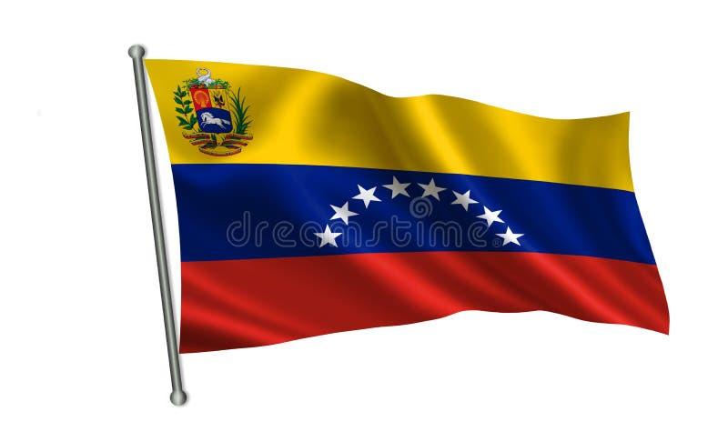 Drapeau du Venezuela Une série de drapeaux de ` du monde ` Le pays - drapeau du Venezuela illustration de vecteur