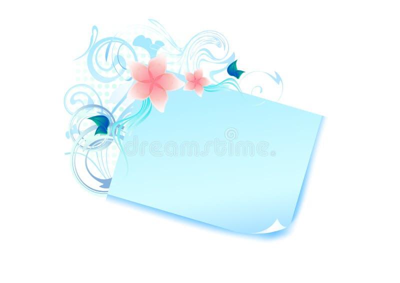 Drapeau en pastel bleu images libres de droits