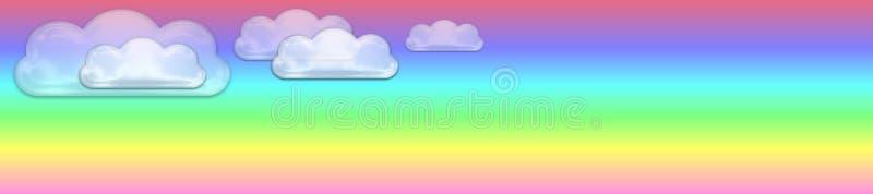 Drapeau en pastel et vitreux de nuages illustration libre de droits