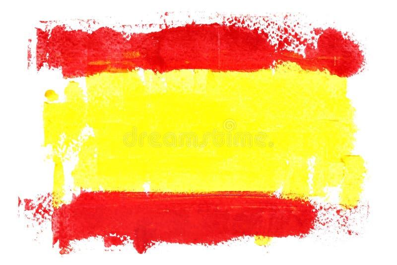 Drapeau espagnol par des courses de brosse illustration libre de droits