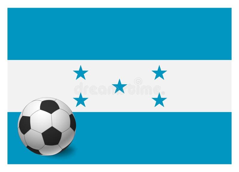 Drapeau et ballon de football du Honduras illustration stock