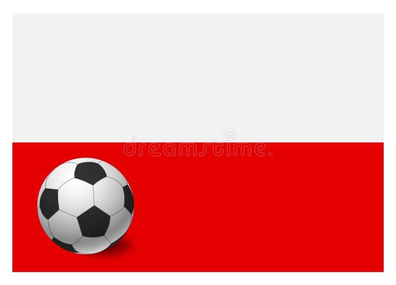 Drapeau et ballon de football de la Pologne illustration libre de droits