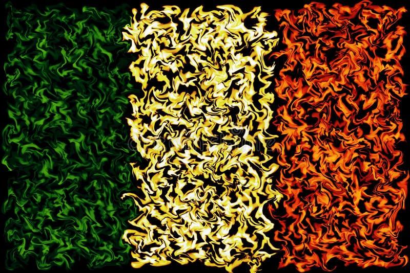 Drapeau européen - conception brûlante de couleurs illustration libre de droits