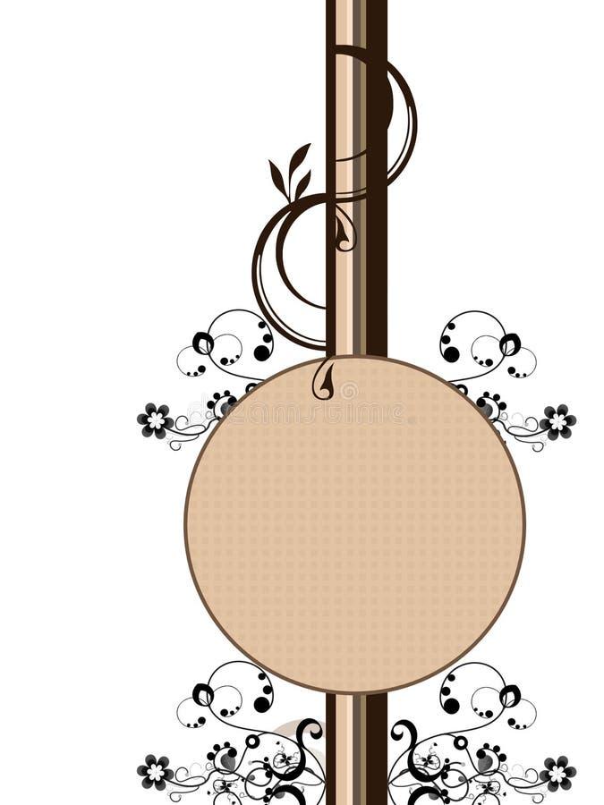 Drapeau floral rond illustration de vecteur