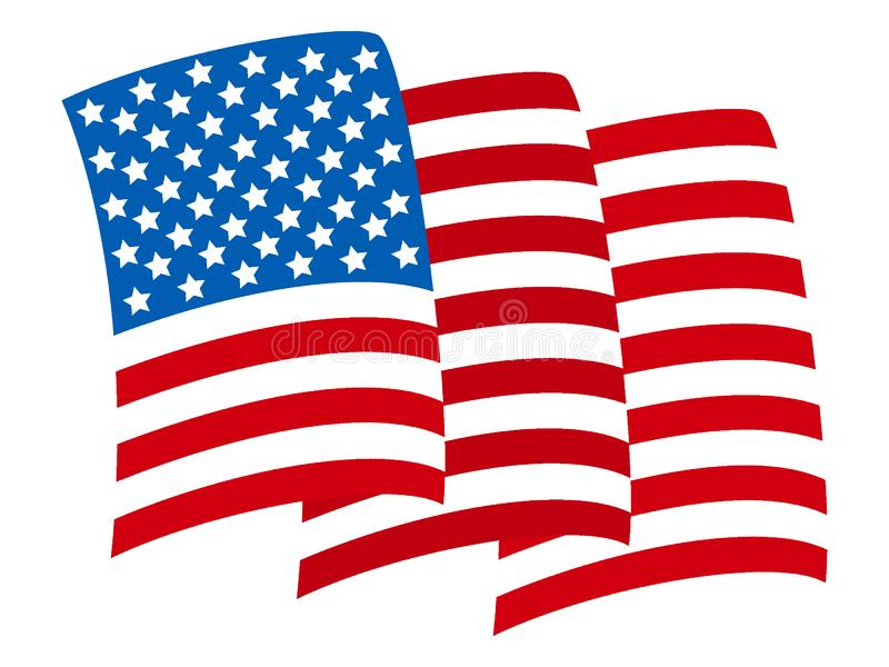 Drapeau formé par vague des Etats-Unis illustration libre de droits