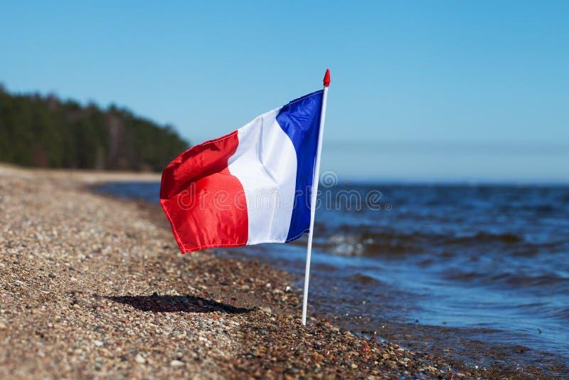 Drapeau français. photographie stock