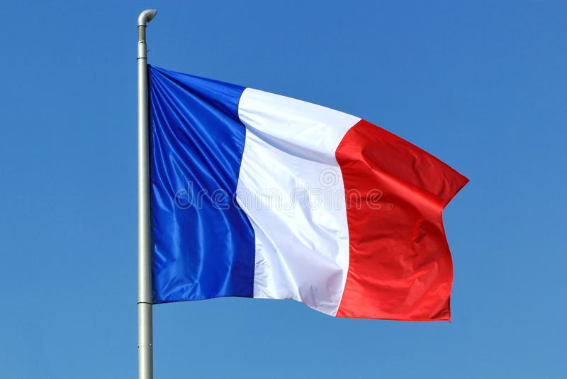 Drapeau français image stock