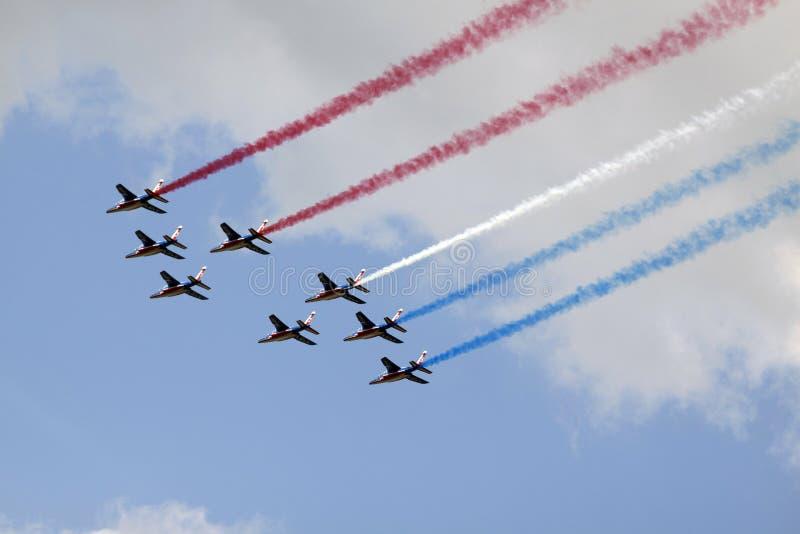 Drapeau français dans le ciel image stock