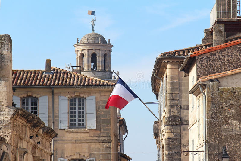 Drapeau français de construction image libre de droits