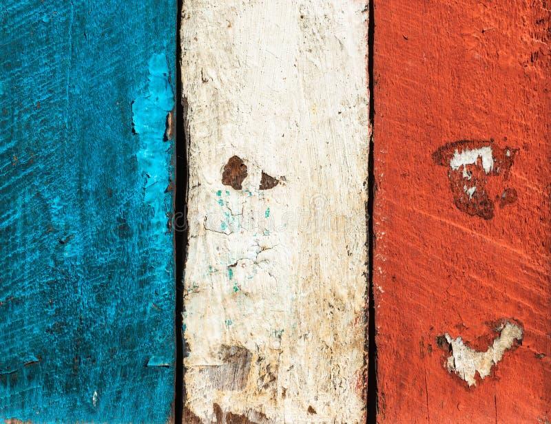 Drapeau français fait de planches peintes images libres de droits