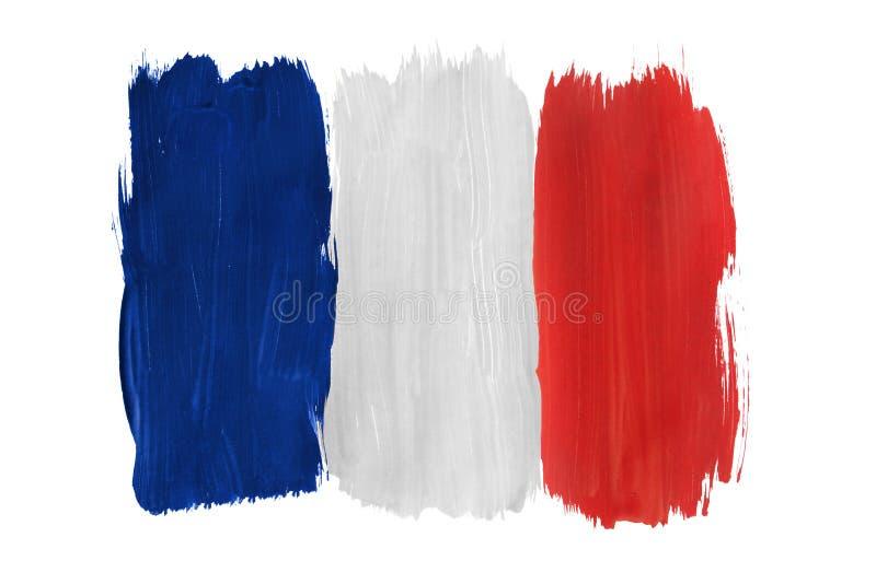 Drapeau français peint d'isolement images libres de droits