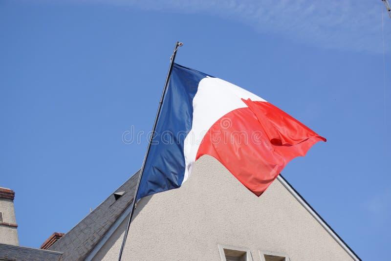 Drapeau français - vue de face - Frances photos stock