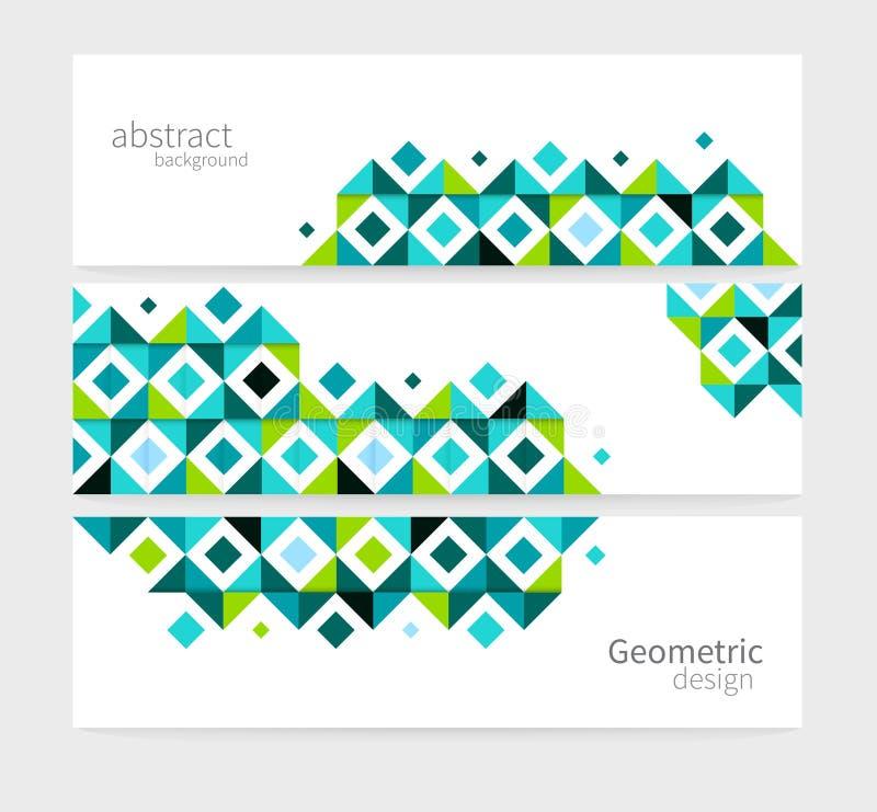 Drapeau géométrique abstrait illustration stock