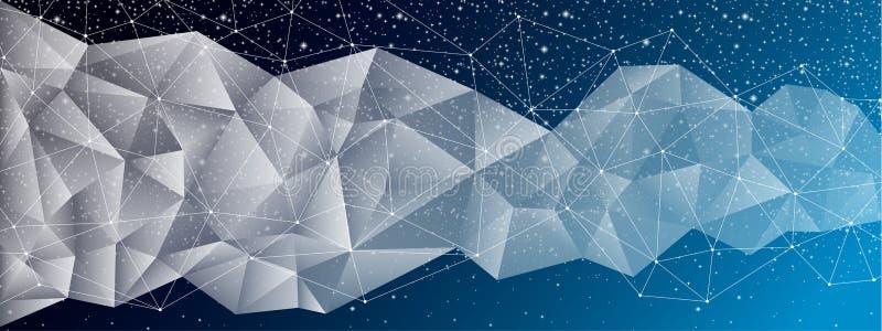 Drapeau géométrique abstrait illustration libre de droits