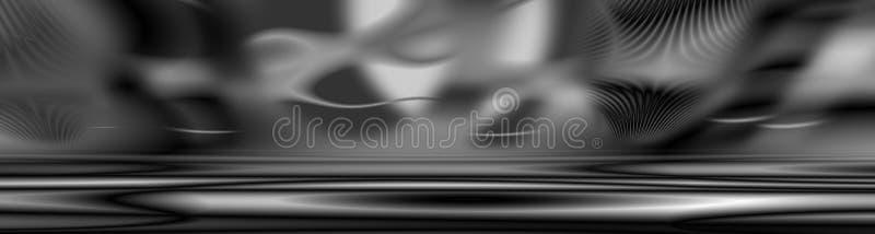 Drapeau gris de satin illustration stock