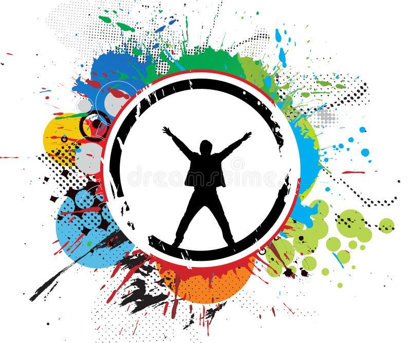 Drapeau grunge illustration stock