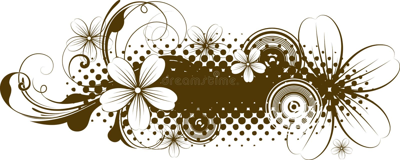 Drapeau grunge abstrait illustration stock