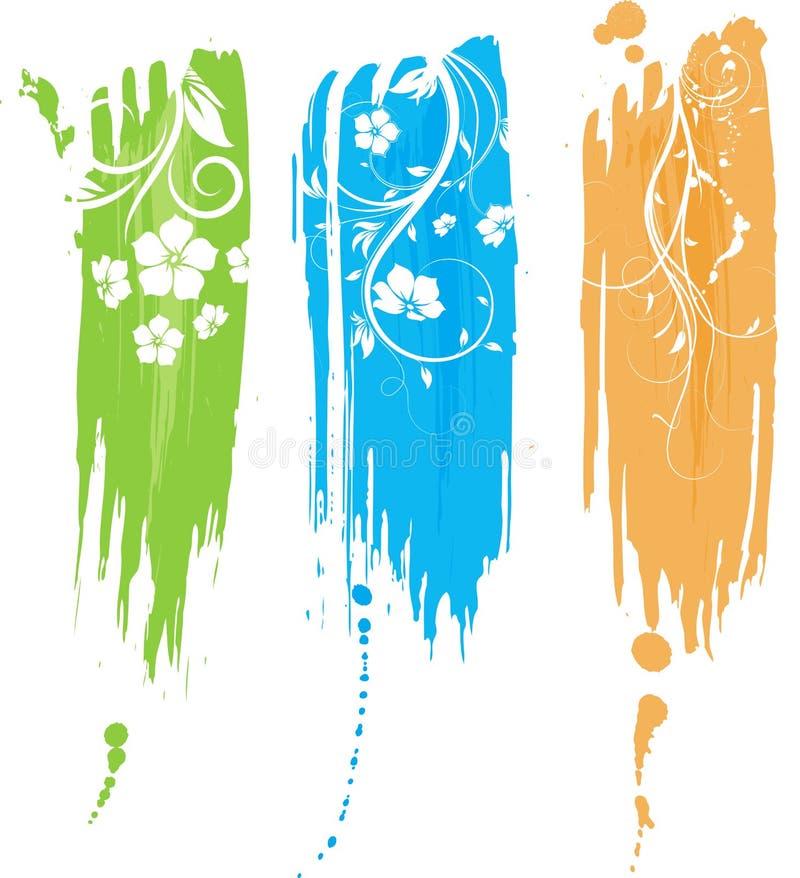 Drapeau grunge abstrait illustration libre de droits