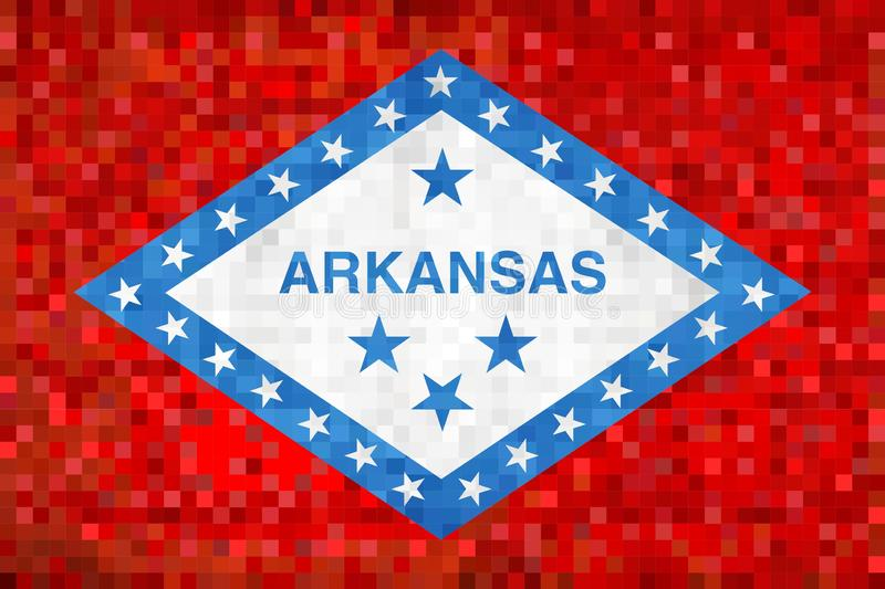 Drapeau grunge abstrait de mosaïque de l'Arkansas illustration de vecteur