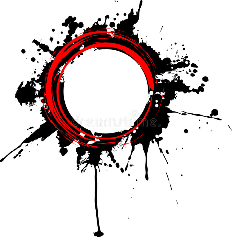 Drapeau grunge circulaire. illustration libre de droits