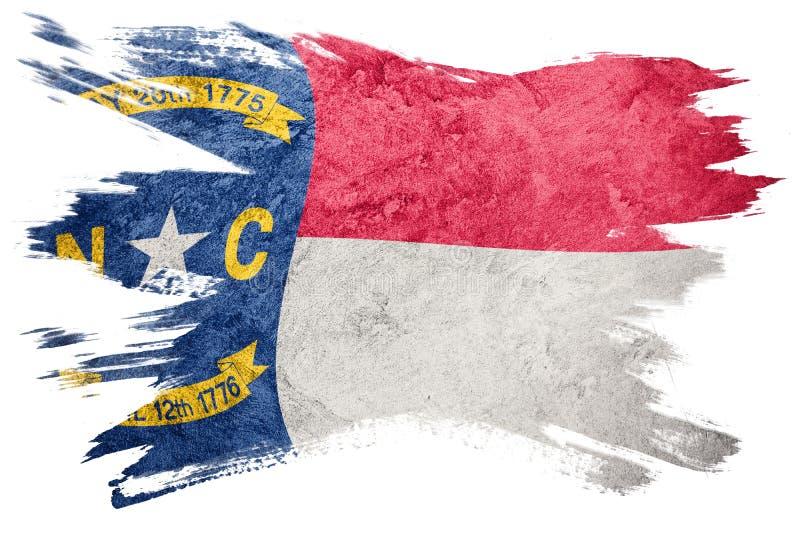 Drapeau grunge d'état de la Caroline du Nord Stro de brosse de drapeau de la Caroline du Nord illustration libre de droits