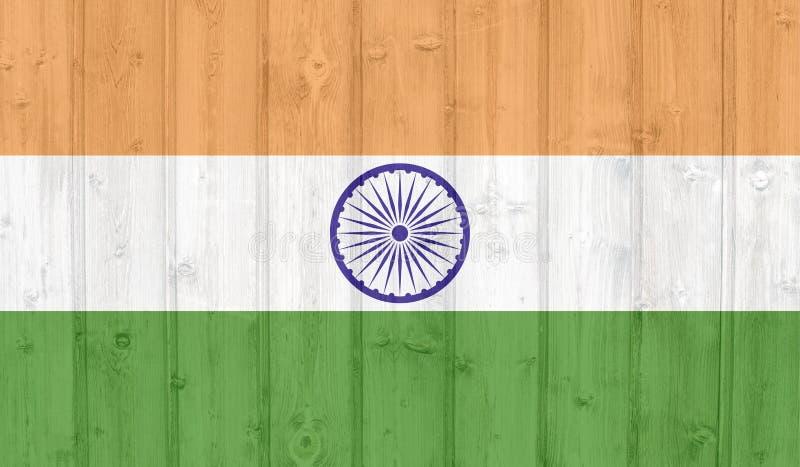Drapeau grunge d'Inde illustration libre de droits