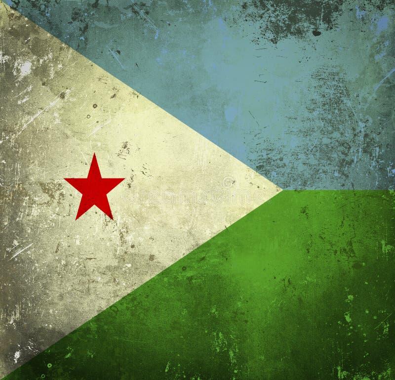 Drapeau grunge de Djibouti illustration stock
