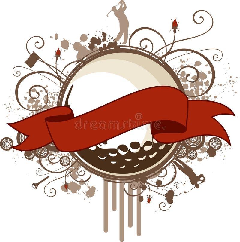 Drapeau grunge de golf illustration stock