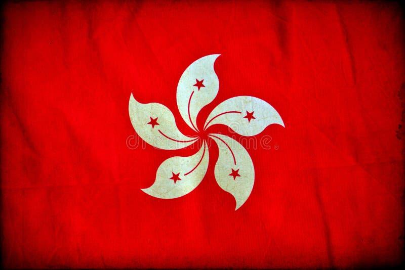 Drapeau grunge de Hong Kong illustration de vecteur