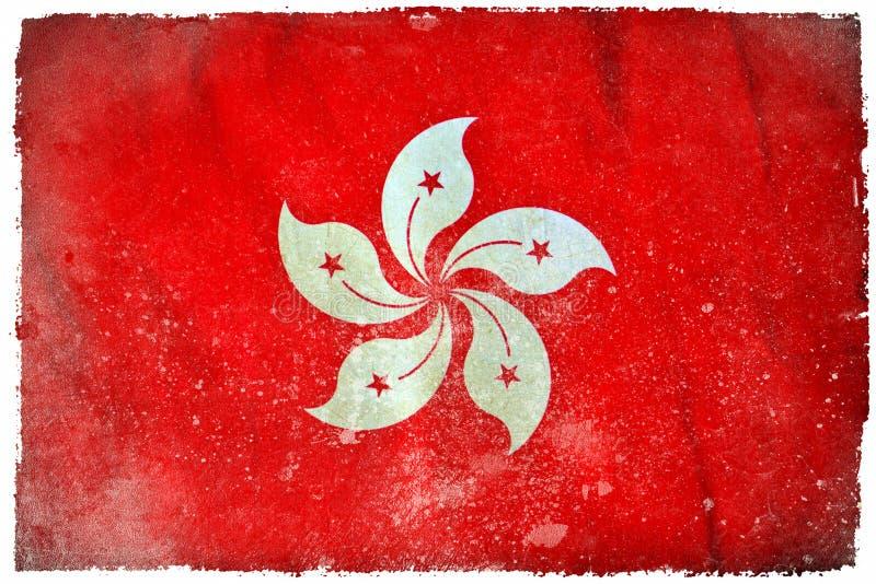 Drapeau grunge de Hong Kong illustration libre de droits