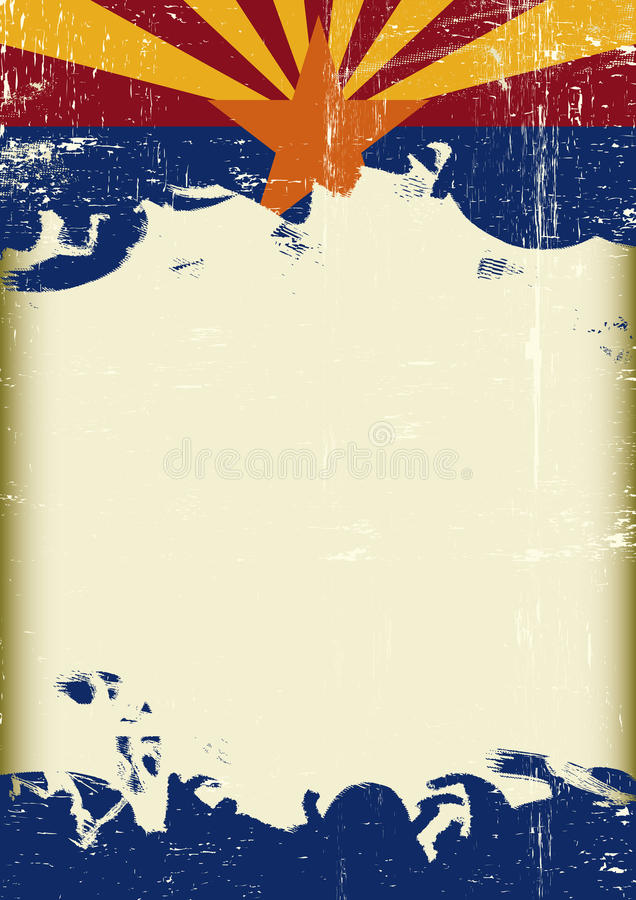 Drapeau grunge de l'Arizona illustration libre de droits