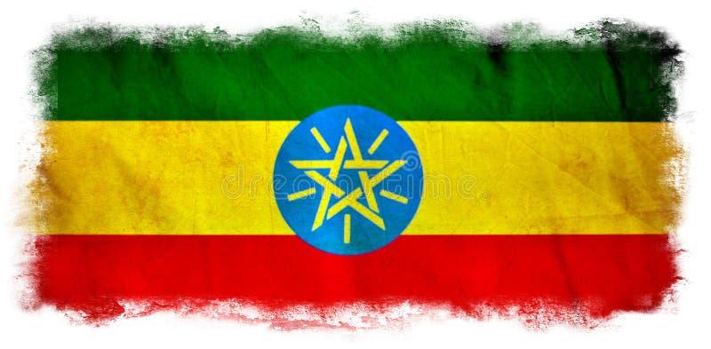 Drapeau grunge de l'Ethiopie illustration stock