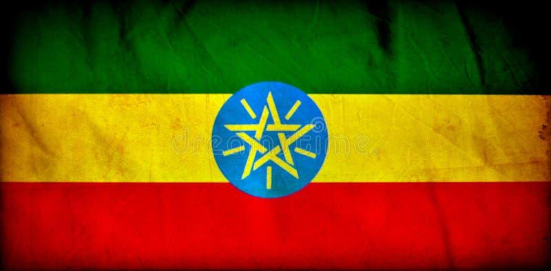Drapeau grunge de l'Ethiopie illustration de vecteur
