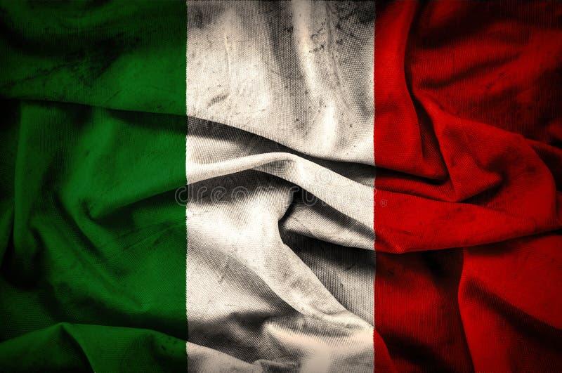 Drapeau grunge de l'Italie - fond de vintage image stock