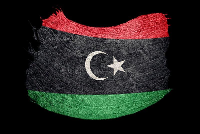 Drapeau grunge de la Libye Drapeau libyen avec la texture grunge Rappe de balai illustration de vecteur