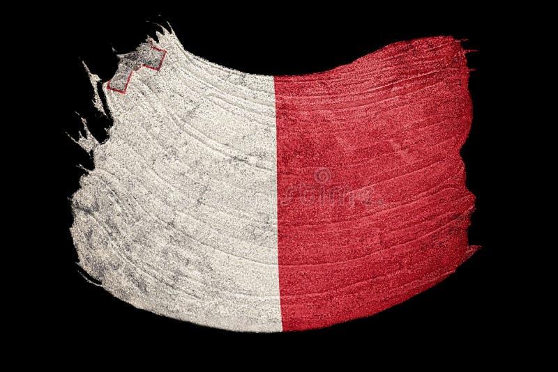 Drapeau grunge de Malte Drapeau de Malte avec la texture grunge Rappe de balai illustration de vecteur