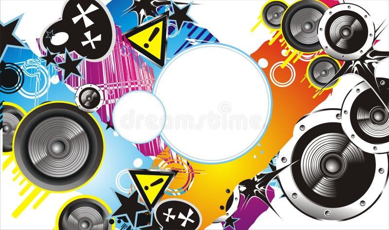Drapeau grunge de musique de type illustration libre de droits