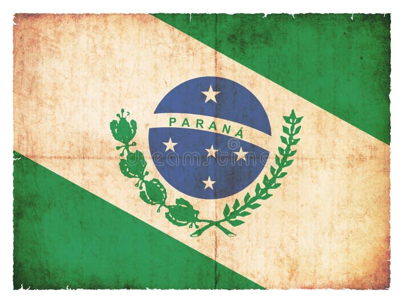 Drapeau grunge de Parana Brésil illustration libre de droits