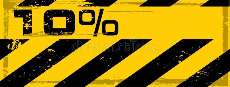 Drapeau grunge de pour cent de danger de vecteur illustration de vecteur